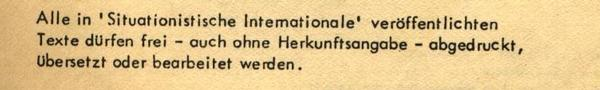 imprint of the German edition of the Internationale Situationniste